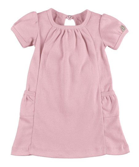 fd1b4897da21 Those Baby Basics Soft Pink Short-Sleeve Dress