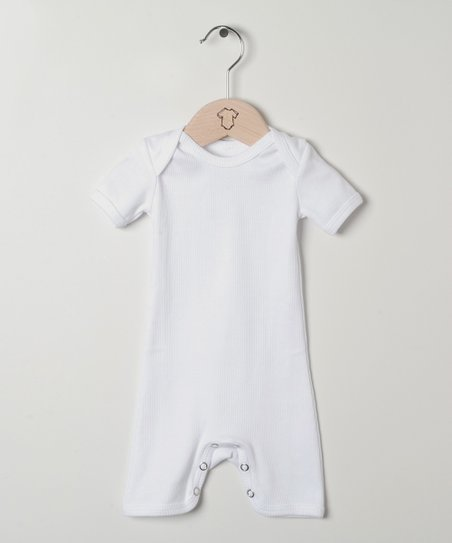 7bd41aa17399 Those Baby Basics White Romper
