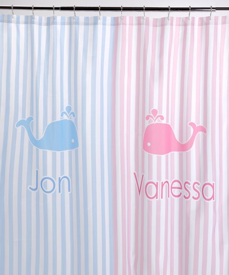 Love This Product Pink Blue Whale Personalized Shower Curtain