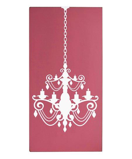 Vinyl Crafts Pink Chandelier Wall Art, Pink Chandelier Wall Art
