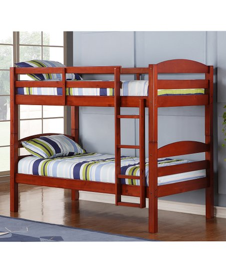 Walker Edison Cherry Twin Bunk Bed Frame Zulily