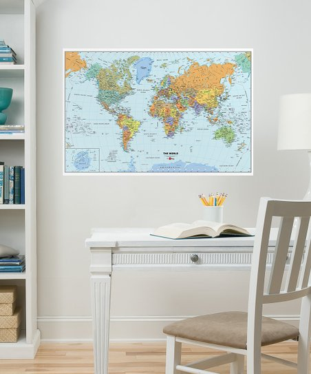 WallPops! World Map Dry-Erase Decal | Zulily on