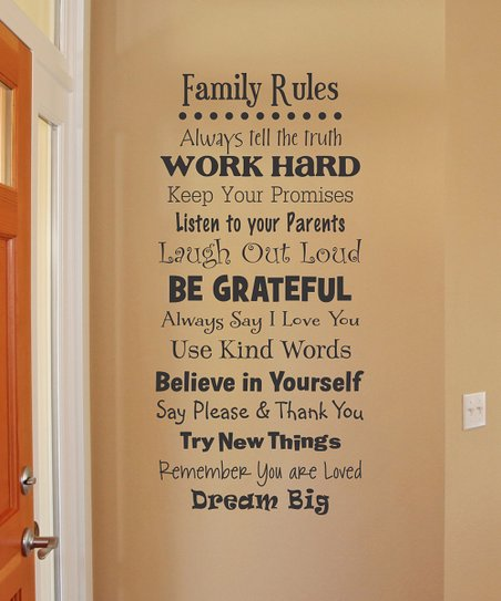 Wall Quotes™ by Belvedere Designs Black Whimsical Family ...