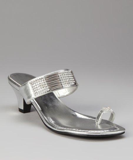 6609ccf441ac78 ann marino Silver Illusion Sandal