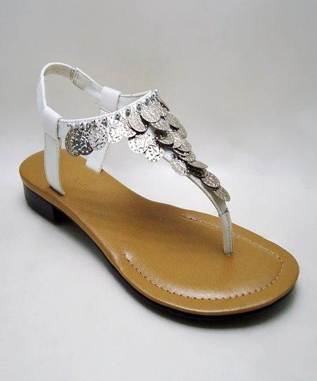 5fa34a0ecbe330 ann marino Silver   White Mandala Sandal