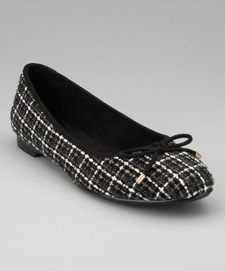 d62ae28a61ca1 ann marino Black Gia Ballet Flat | Zulily
