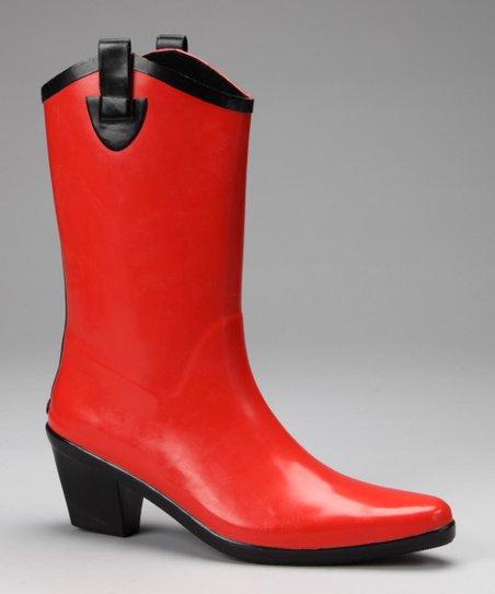 89c6ee87477 Red Cowboy Rain Boot - Women
