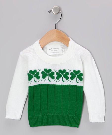 730f486bf ishopirish Green   White Shamrock Sweater - Infant