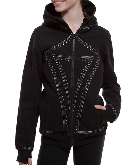 c1f26c992be095 Black Special Edition ivivva Hoodie - Girls   Zulily