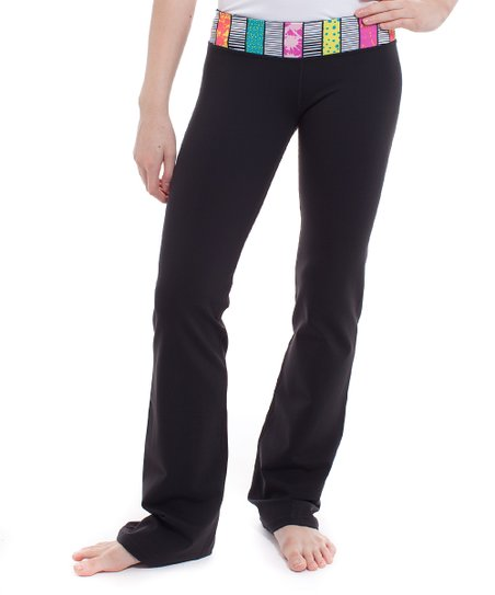 00ef997bc6717d love this product Black Stripe-O-Rama Straight Up Pants - Girls