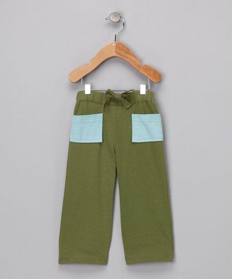2613721ffecd Olive Green Vintage Organic Pants - Infant