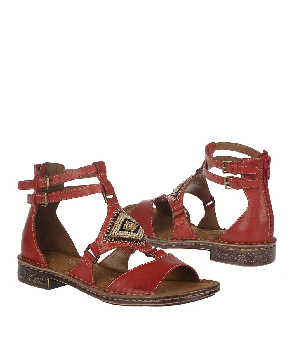 8946a11c001c Naturalizer Red Pepper Reconnect Leather Gladiator Sandal