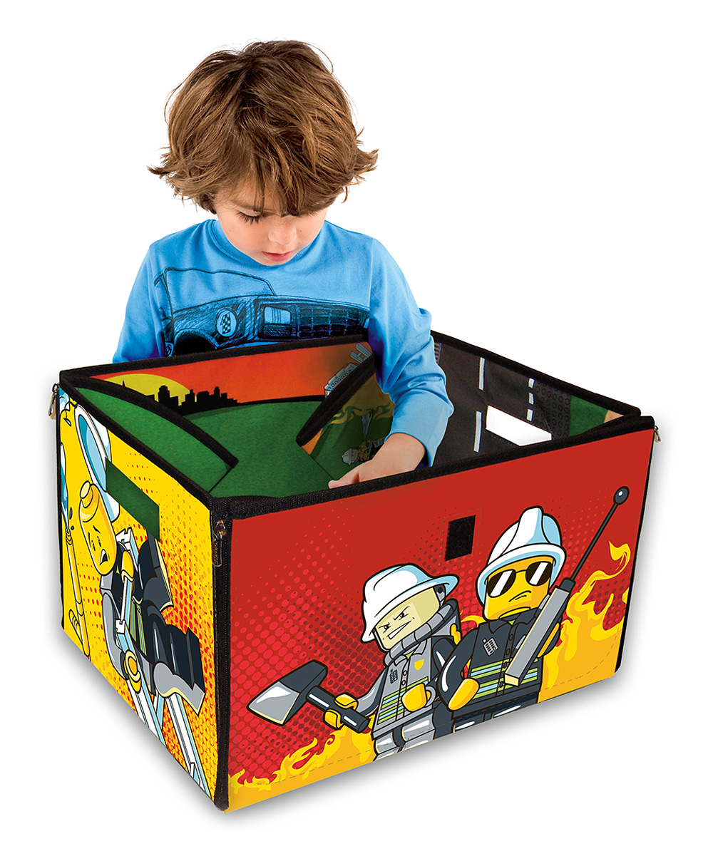 love this product City Fire LEGO ZipBin Toy Box   Playmat 498121603