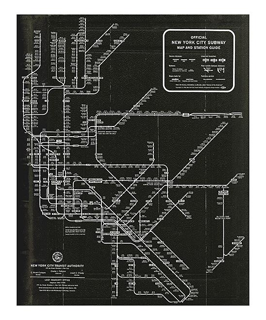 Subway Map Wall Art.Oliver Gal New York Subway Map 1958 Wall Art Print