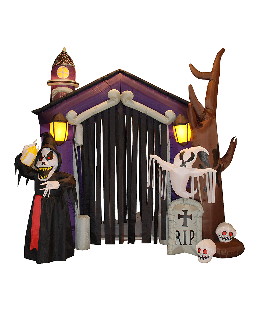 BZB Goods  Outdoor Structures  - Haunted House Inflatable Light-Up Lawn Decoration