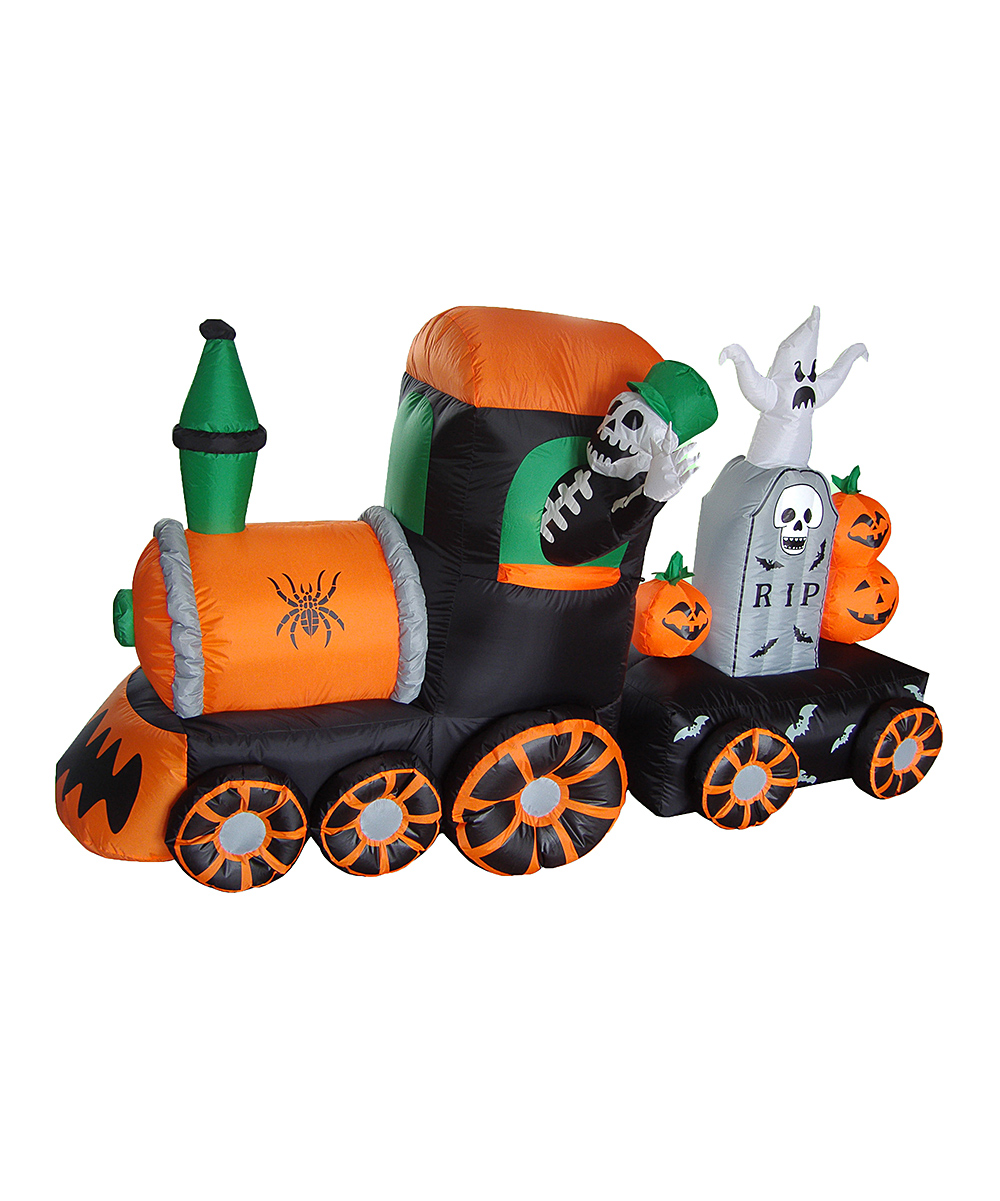 BZB Goods  Outdoor Structures  - Skeleton & Train Inflatable Light-Up Lawn Decoration
