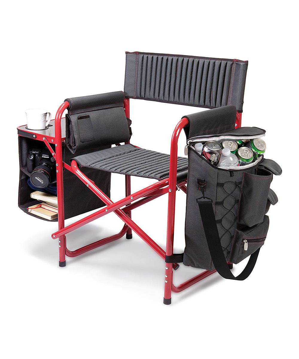 ONIVATM by Picnic Time  Camp Furniture Dark - Dark Gray & Red Fusion Folding Chair