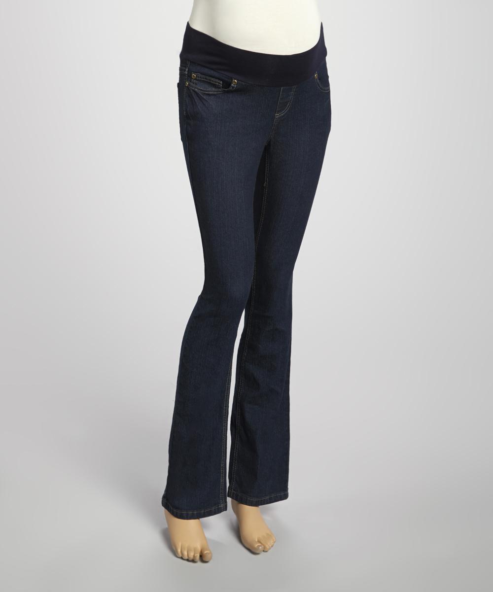 8f1d1d347ffac Mom & Co True Dark Denim Maternity Jeans   Zulily