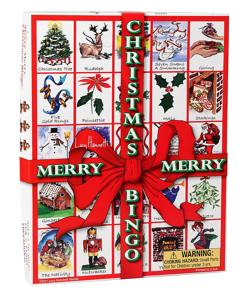 Lucy Hammett Games  Board Games  - Christmas Bingo Game