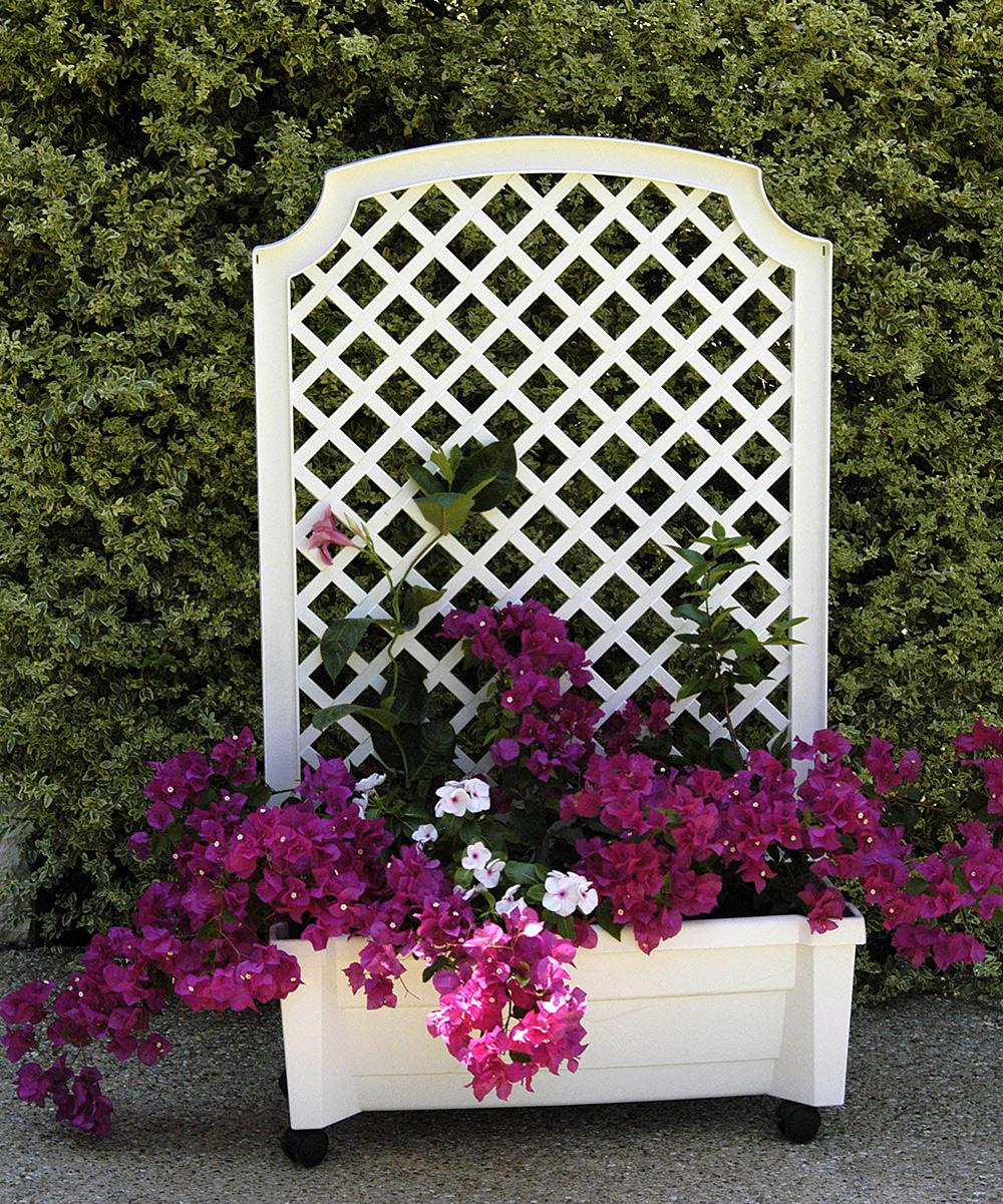 Exaco White Calypso Trellis Planter Zulily