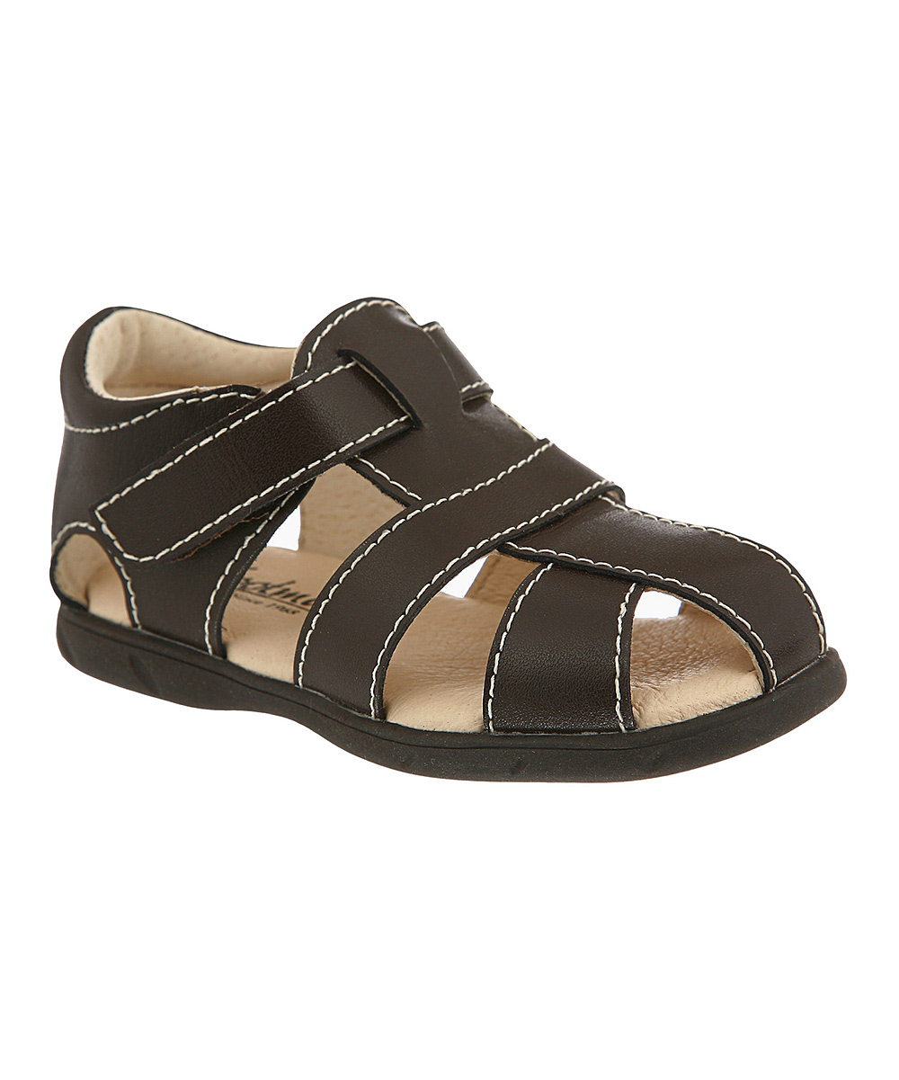 761f111fd FootMates Brown Scout Leather Sandal - Boys | Zulily