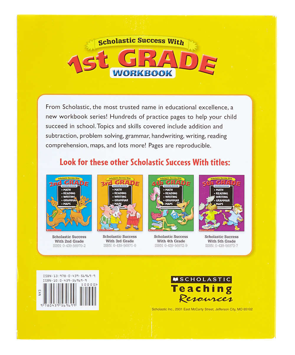 Workbooks big third grade workbook : Bradleys Books Scholastic Success With 1st Grade Workbook | zulily