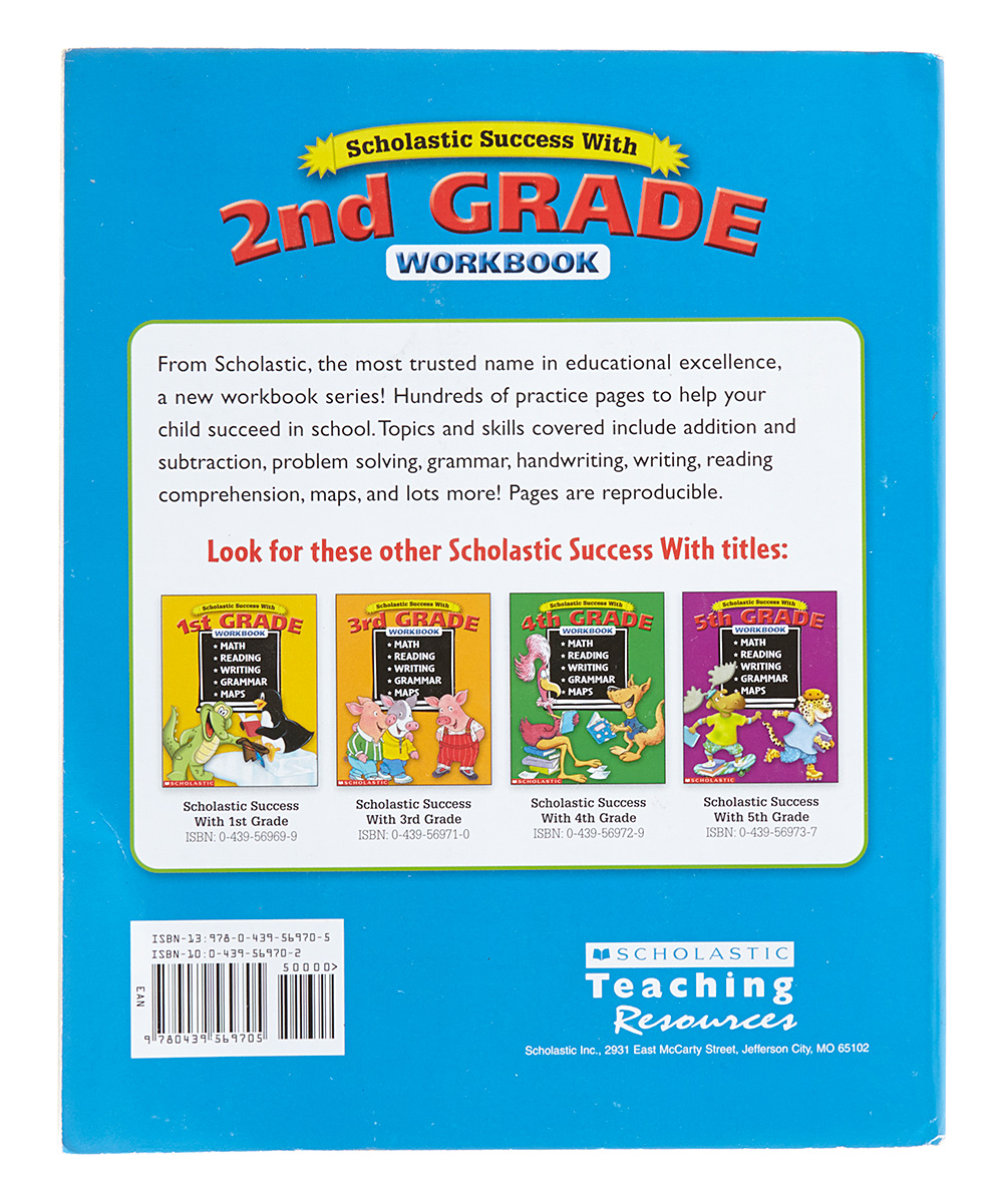 Bradleys Books Scholastic Success With 2nd Grade Workbook Zulily