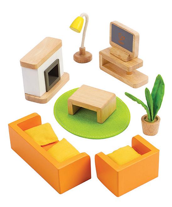 Hape Toys  Doll Accessories  - Media Room Doll Furniture Set