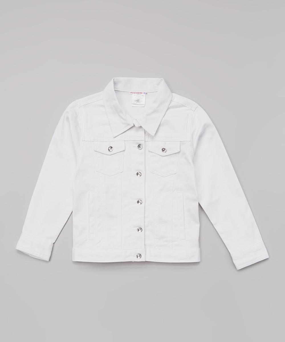 baed9477e Attitude Pie White Denim Jacket - Toddler & Girls