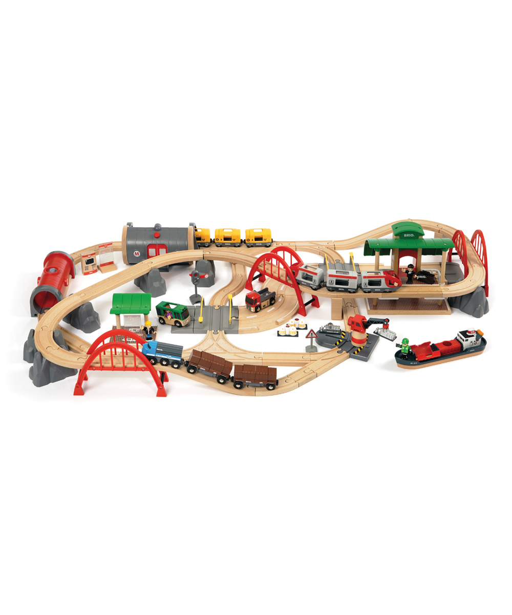 Brio Wooden Battery Operated Deluxe Railway Set