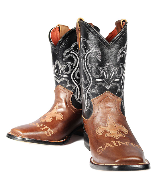 0a8caaa7 Old Pro Leather Goods Co. New Orleans Saints Cowboy Boots - Kids