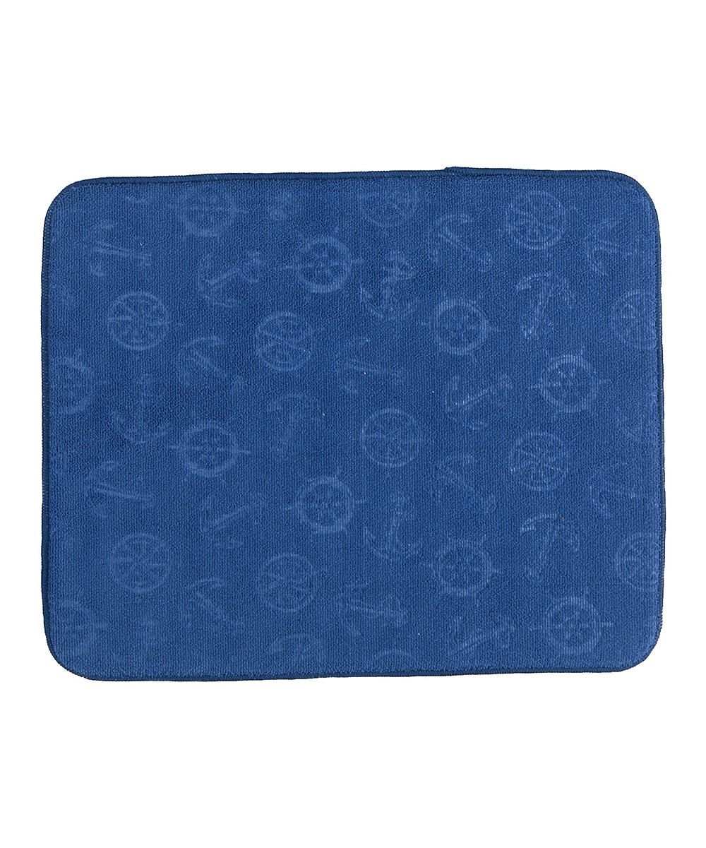 Blue Anchors Countertop Drying Mat Blue Anchors Countertop Drying Mat. Constructed from durable polyester, this machine-washable drying mat helps dry dishes without getting the countertop wet. 16'' W x 20'' H100% polyesterMachine washImported