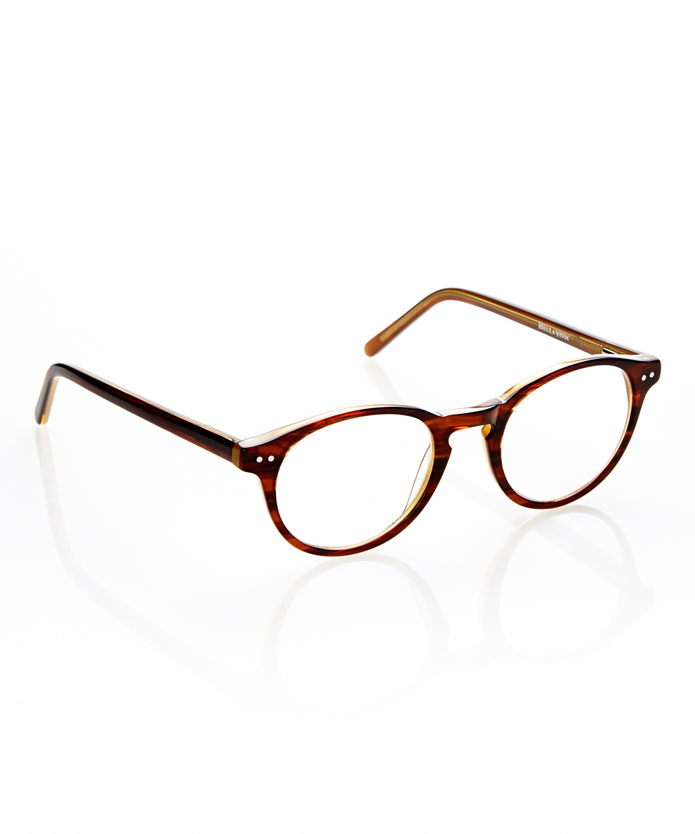 Bella Vista Women's Reading Glasses BURGUNDY - Brown & Burgundy Metal Dot Intorno Readers