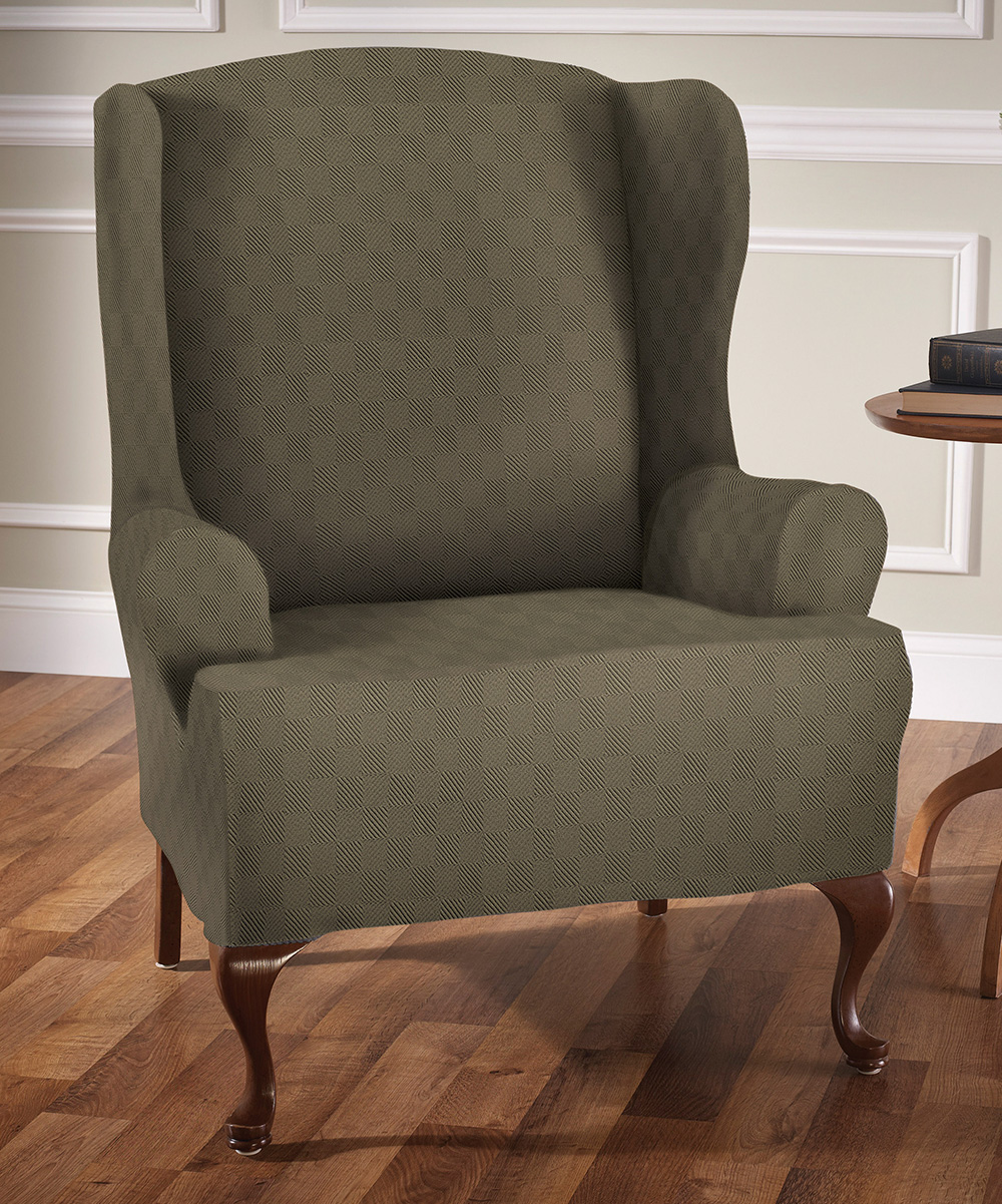 Jeffrey Home  Indoor Furniture Covers Sage - Sage Newport Wing Chair Slipcover