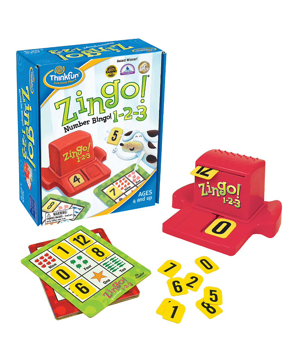 ThinkFun  Board Games  - Zingo! 1-2-3 Game