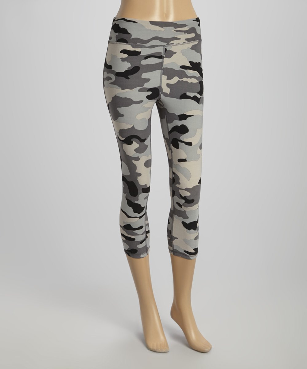c7805bd030cf6 ReActivate Black Camo Capri Leggings - Women | Zulily