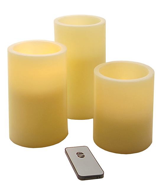 Round Remote-Control LED Candle Set