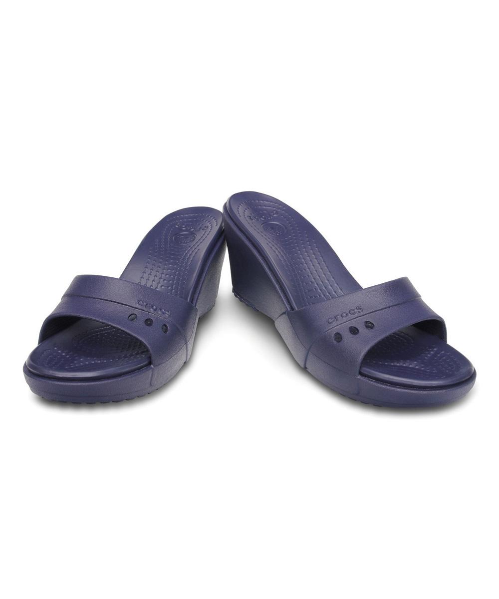 cc09513301b Crocs Nautical Navy Kadee Wedge Slide - Women
