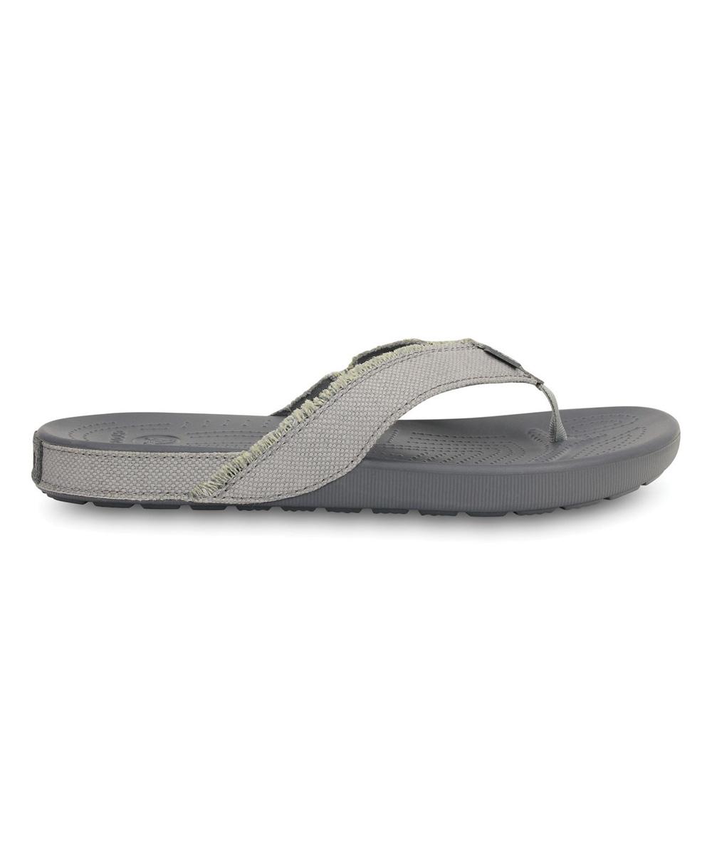 df9bec338743 Crocs Light Gray   Charcoal Santa Cruz II Flip-Flop - Men