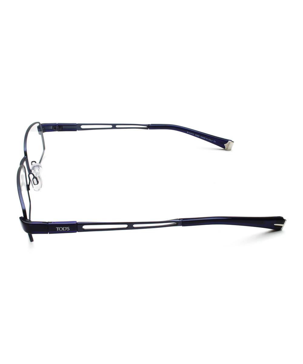 fed7685b304f all gone. Blue Rectangle Wire-Rim Eyeglasses