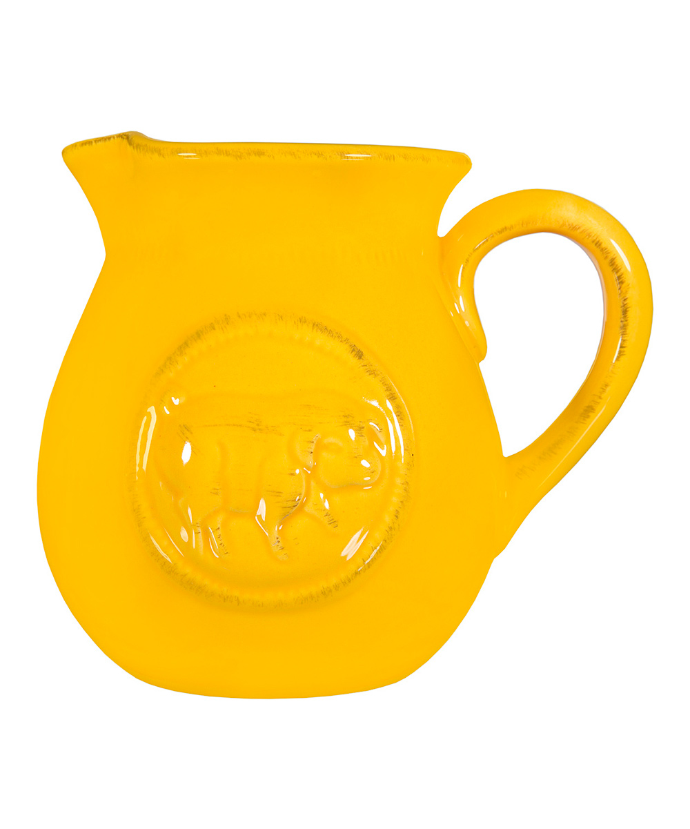 Home Essentials and Beyond  Pitchers  - 0.75-Qt. Yellow Pig Pitcher