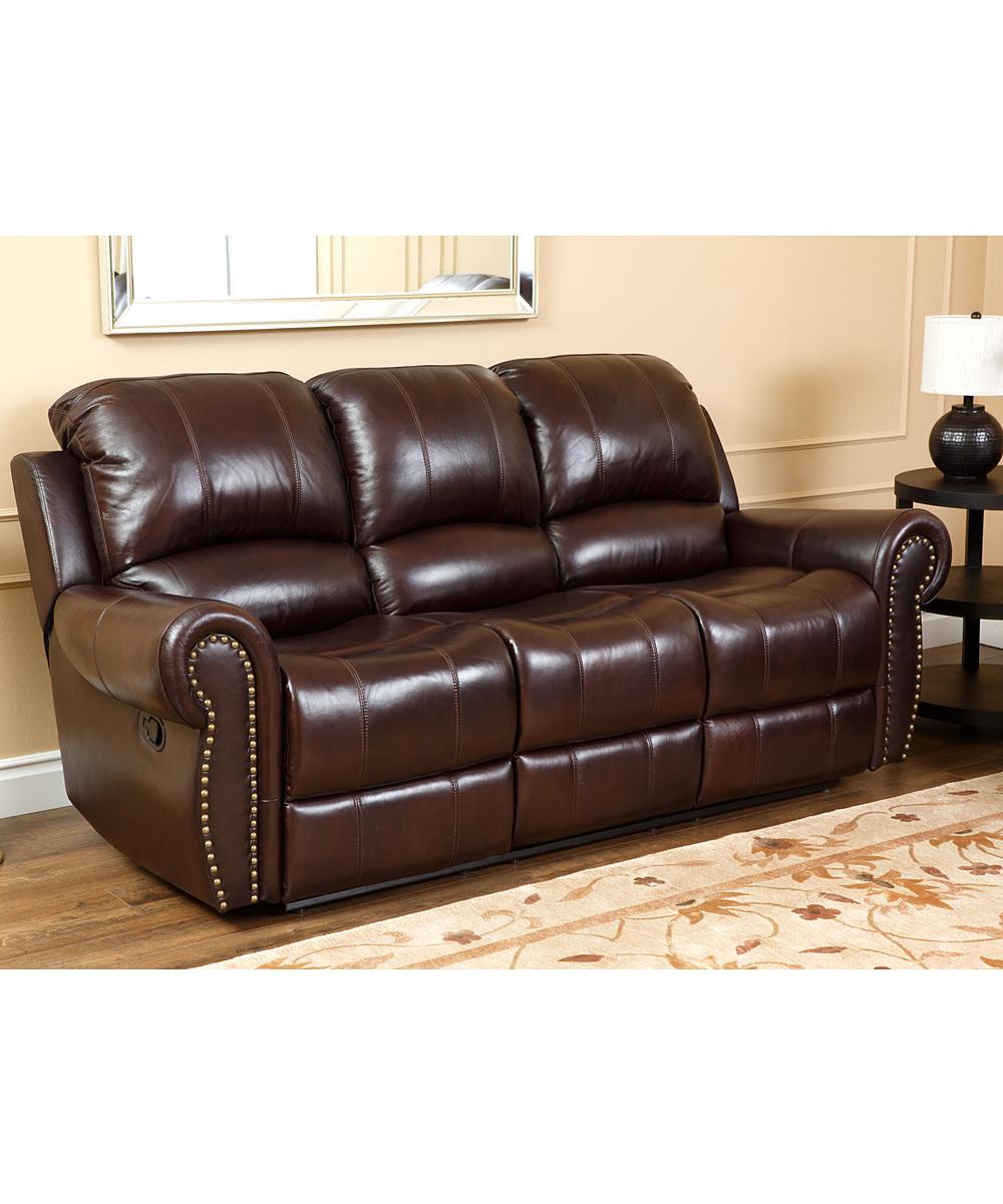 Dark Burgundy Kennedy Leather Reclining Sofa