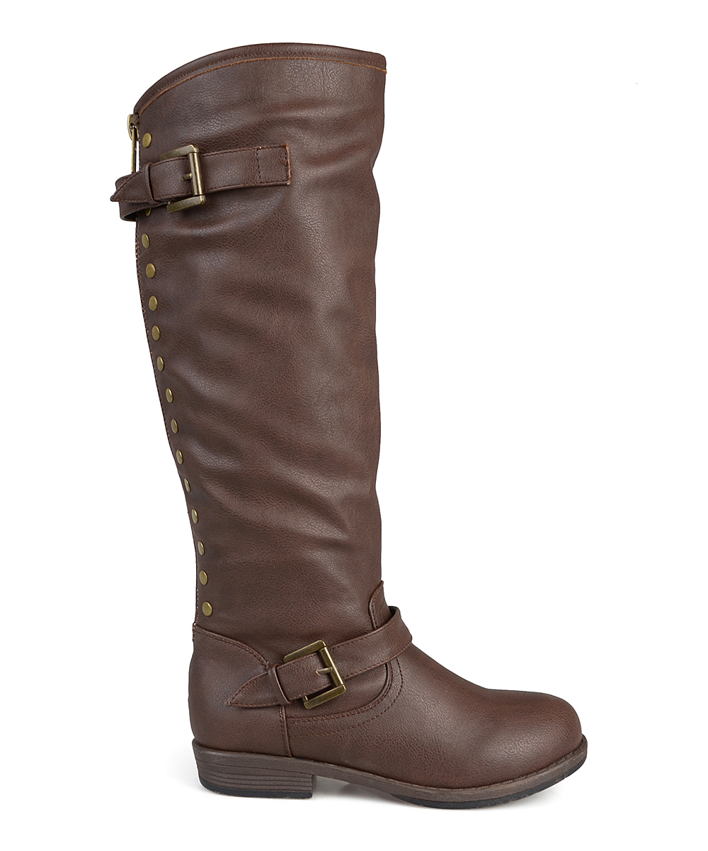 2be5f64e297 Journee Collection Brown Spokane Wide-Calf Boot - Women