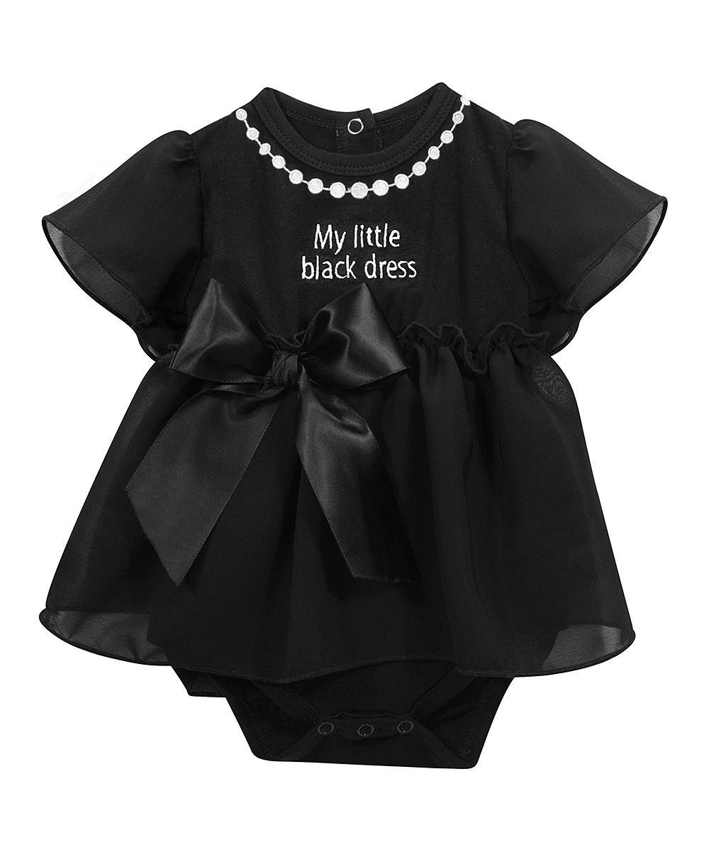 b72bf0f16 Stephan Baby Black Little Black Dress Bodysuit Dress - Infant