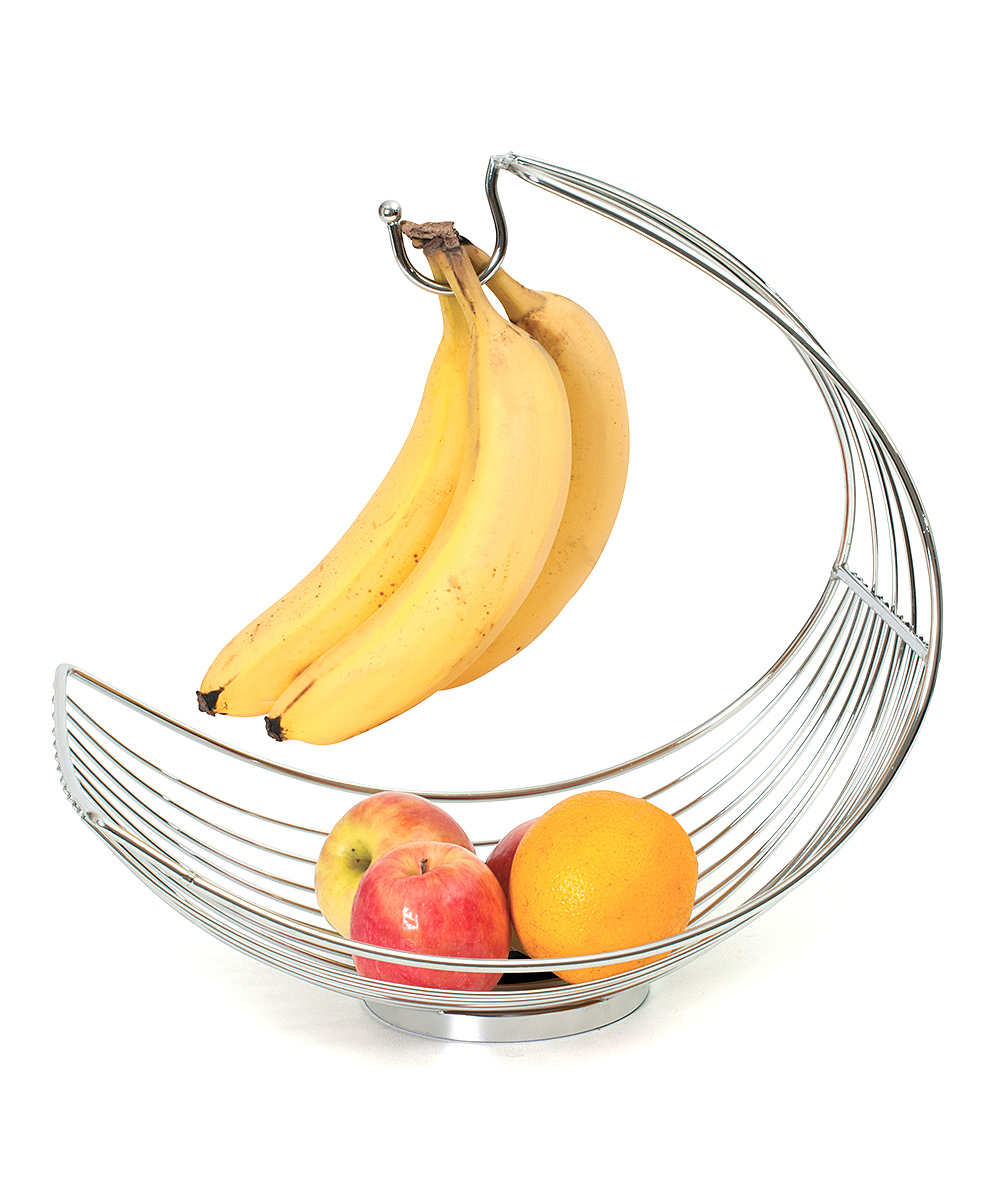 Design Products  Fruit Bowls  - Stainless Steel Basket & Banana Holder