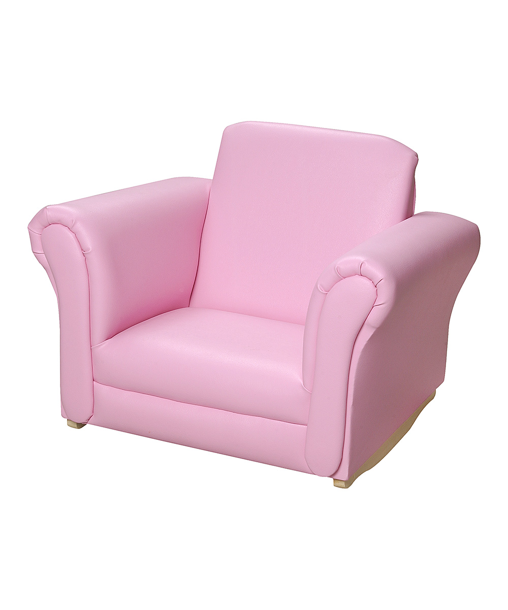 Pink Upholstered Rocking Chair