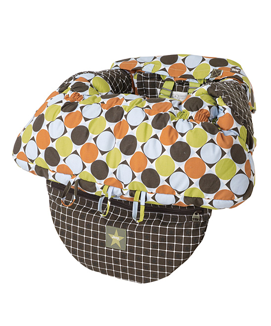 Polka Dot Shopping Cart/High Chair Cover Polka Dot Shopping Cart/High Chair Cover. Keep little ones secure, comfortable and germ-free with this handy seat cover. Easy to put on in seconds, it makes any shopping cart seat or high chair the perfect spot for little ones to sit in style. 8.75'' W x 10.25'' H x 3.28'' D100% polyesterWipe cleanImported