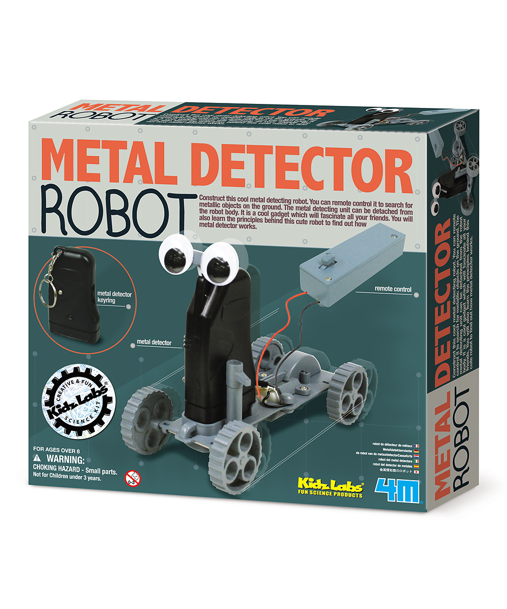 4M  Science Education Toys  - Metal Detector Remote Control Robot Kit