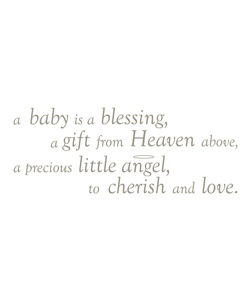 Wallpops A Baby Is A Blessing Wall Decal Set Zulily